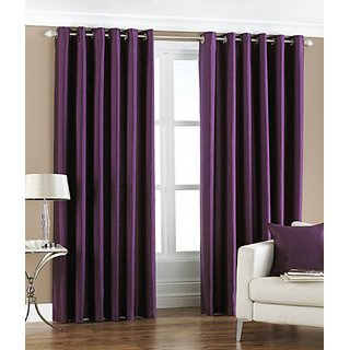 S.S. Trendz Crush Plain Single Door Curtain