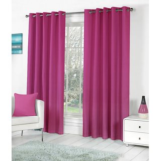 S.S. Crush Plain Single Door Curtain