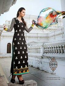 Designer Cotton dress with digital print dupatta