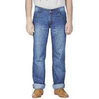Wajbee Men's Blue Slim Fit Jeans