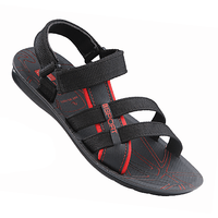 Vkc Men's Red & Black Velcro Floaters