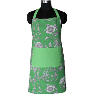 Airwill Apron,Fashion Printed Damask Women Kitchen Apron with Adjustable Buckle on Neck  1 Center Pocket,Perfect for Cooking,Baking, 65 centimeter in Width and 80 centimeter Full in Length