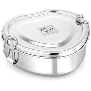 Jvl Heart Stainless Steel Single Lunch Box