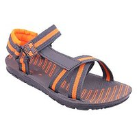 World Wear Mens Orange Velcro Floaters