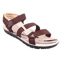 World Wear Mens Brown Velcro Floaters