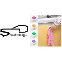 s4d  4Pcs Rubber Suction Pad Cloth Tea Towel Holder Rubber Push in Self-Adhesive Back(multi color)