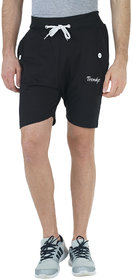 Trendyz Mens Cotton Black Shorts