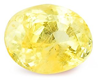 8 CARAT UNHEATED,UNTREATED,CEYLON ORIGIN Yellow Sapphire-Pukhraj Stone