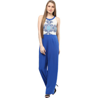 109F Multicolor Poly Cotton Printed Jumpsuits For Women