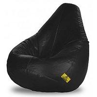 Adorn Homez XXXL Bean Bag-Black -With Bean/Filled
