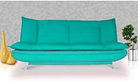 Elite Adorn Homez 3 Seater Sofa Bed Fabric-Leather-Turquoise