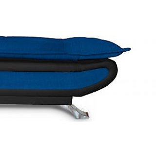 Elite Adorn Homez 3 Seater Sofa Bed Fabric-Leather-Black  N.Blue