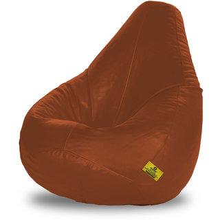 Adorn Homez XXL Bean Bag-Tan-With Bean/Filled