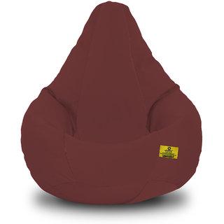 Adorn Homez XL Bean Bag-Brown Cotton-With Bean/Filled