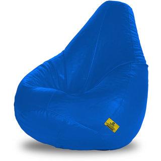 Adorn Homez XXL Bean Bag-R.Blue-With Bean/Filled