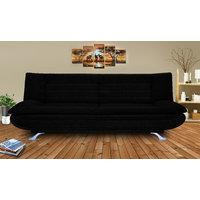 Elite Adorn Homez 3 Seater Sofa Bed Fabric-Black