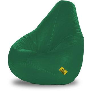 Adorn Homez XXL Bean Bag-Bottle Green-With Bean/Filled