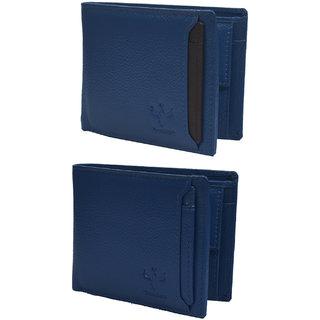 Krosshorn Blue Pure Leather Wallet for Men