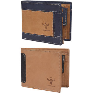 Krosshorn Brown Pure Leather Wallet for Men