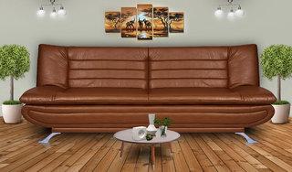 Elite Adorn Homez 3 Seater Sofa Bed Leatherrete-Tan