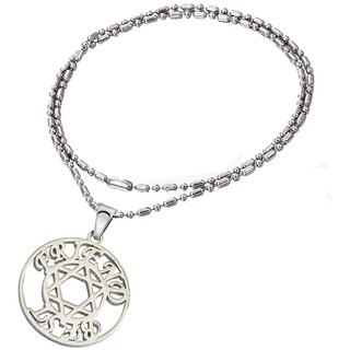 Men Style Special Gift Friendship day Best Friends Silver Stainless Steel Round Necklace Pendant For Men And Women