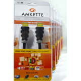 Amkette HDMI Cable With Ethernet 100 Mbps 1.5m Fully Compatible With 3D And HDTV
