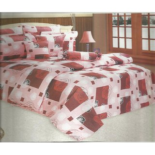 Looms Of India Pink Bedsheet (BC-1247)