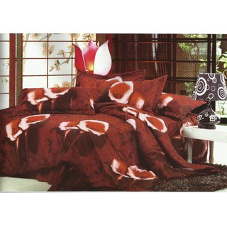 Looms Of India Brown Bedsheet (BC-1254)