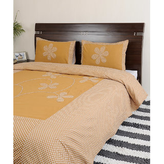 Looms Of India Rust Bedsheet (BC-7012)