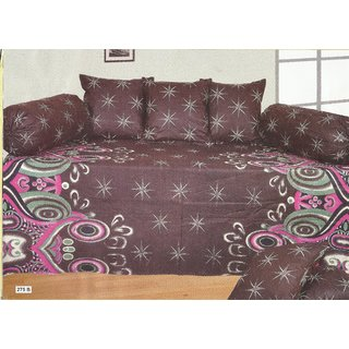 Looms Of India Brown Bedsheet (DS-705)