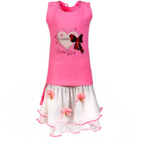 Arshia Fashions Little Girls Party Wear Skirt and Top Set