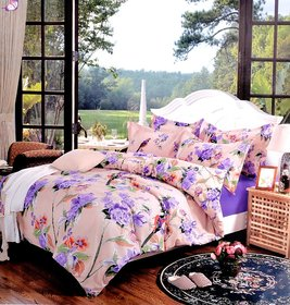 Double 3D Bedsheet with 2 Pillow Covers