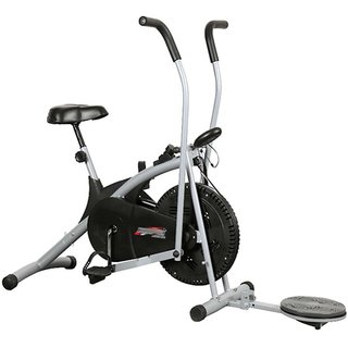 Body Gym Air Bike Stamina Exercise Cycle With Twister, Exercise Bike