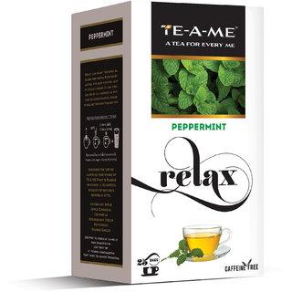 TE-A-ME Peppermint Infusion Tea Pack of 25 Tea Bags