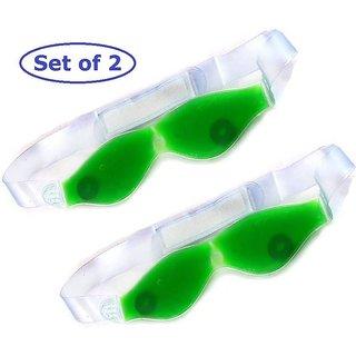 Bhumi combo of 2 Aloe Vera Gel Eye Cool Mask Multipurpose Magnetic Clears Eye Sight