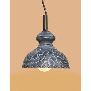 AH  Grey Color Geometrical Design Iron Pendant Hanging Lamp ( Pack of 1 )
