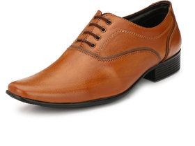 AFM Tan Formal Shoes For Men