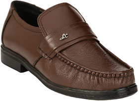 AFM Brown Formal Leather Shoes For Men