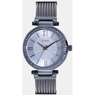GUESS Blue Metal Round Dial Analog Watch For Women (W0638L3)