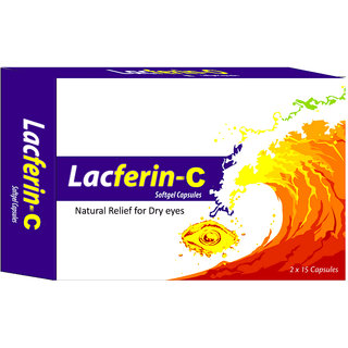 Lacferin-C Curcumin, Vitamin D3  Omega-3 Fatty Acids for Dry Eye Relief  30 Capsules
