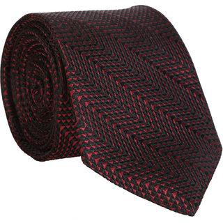 Bombay High Black Printed Silk Necktie