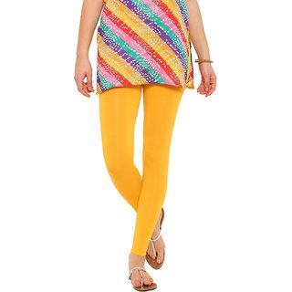 e168bcceb55ad Buy De Moza Ankle Length Lemon Yellow Solid Cotton Lycra Online - Get 36%  Off