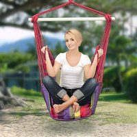 DC'S Brazilian Multi-Color Rope Hanging Hammock Swing Chair For Home Living Room