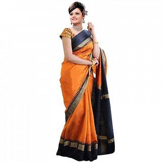 Leeps Prints Plain Bhagalpuri Silk  Saree /Sari With Embroidery Blouse ( Colours Available)