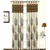ILiv Premium Brown Panel Curtain ( Set Of 2 ) 9Ft