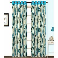 ILiv Sky Jute Curtain ( Set Of 2 ) - 5Ft