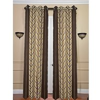 ILiv Brown V Curtain ( Set Of 2 ) - 5Ft