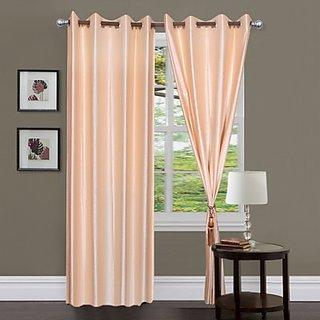 iLiv Cream Plain Solid Door Curtain  7Ft-1Pc