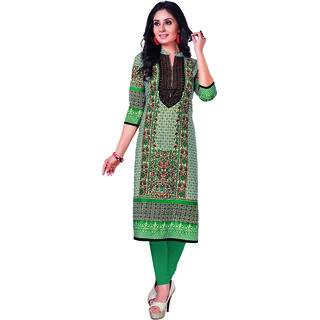 Pari Unstitched Cotton Multi Color Kurti Material