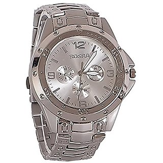 Buy rosra round stylish analog metal silver watch online get 75 off for Rosra watches